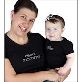 Personalized Mommy Ladies Rhinestone Tee