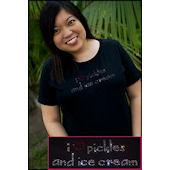 Twinkling Tees Pickles and Ice Cream Maternity Tee