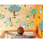 Wall Candy Arts Forest Animals Wall Stickers
