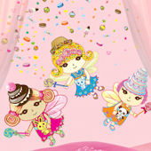 Wall Candy Arts Sweet Dreams Fairies Sticker Kit