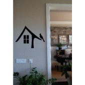 Bird on A Roof Vinyl Wall Decal