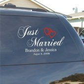 Just Married Vinyl Car Decal Sticker