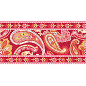 Wall Pops Paisley Please Red Wall Sticker Stripes