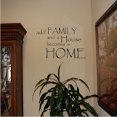 Add Family and Your House Vinyl Wall Sticker