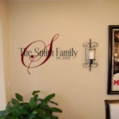 Your Family Name Vinyl Wall Sticker