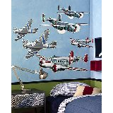 Wallies Airplanes Big Wall Mural