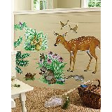 Wallies Woodland Animals Big Wall Mural
