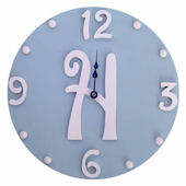 Wish Upon A Star Gray And Pink Initial  Wall Clock