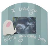 Wish Upon A Star Elephant Girl Sonogram Frame