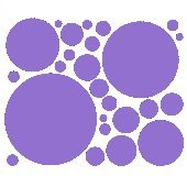 Lavender 25 Peel and Stick Wall Stickers