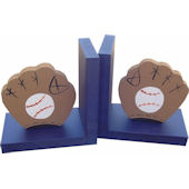 Wish Upon A Star Baseball Blue Bookends