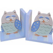 Wish Upon A Star Blue Owl Bookends