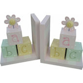 Wish Upon A Star Girls ABC Blocks Bookends