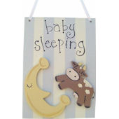 Wish Upon A Star Cow Over The Moon Door Hanger