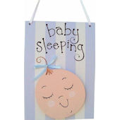 Wish Upon A Star Baby Boy Door Hanger