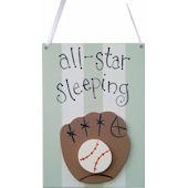 Wish Upon A Star Baseball Door Hanger