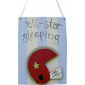 Wish Upon A Star Football Door Hanger