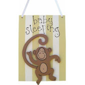Wish Upon A Star Monkey Door Hanger