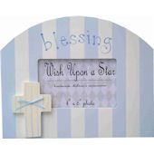 Wish Upon A Star Boys Blessing Picture Frame