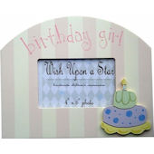 Wish Upon A Star Birthday Girl Picture Frame