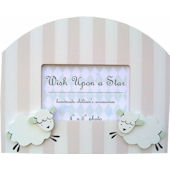 Wish Upon A Star Girl Lamb Picture Frame