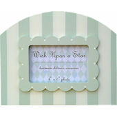 Wish Upon A Star Green White Stripe Picture Frame