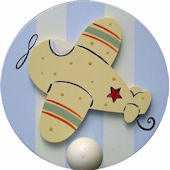 Wish Upon A Star Airplane Wall Pegs Set of 2