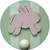 Wish Upon A Star Bunny Wall Pegs Set of 2