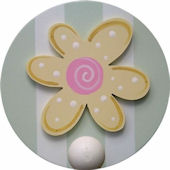 Wish Upon A Star Daisy Wall Pegs Set of 2