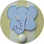 Wish Upon A Star Elephant  Wall Pegs Set of 2