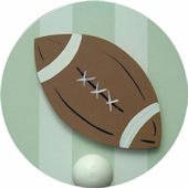 Wish Upon A Star Football Wall Pegs Set of 2