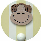 Wish Upon A Star Monkey Wall Pegs Set of 2