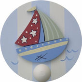 Wish Upon A Star Nautical Wall Pegs Set of 2