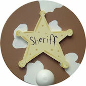 Wish Upon A Star Sheriff  Wall Pegs Set of 2