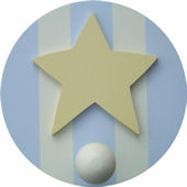 Wish Upon A Star Star Wall Pegs Set of 2