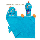 Zoocchini Fanny the Flower Fish Hooded Towel